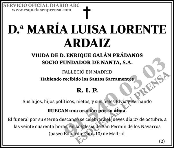 María Luisa Lorente Ardaiz